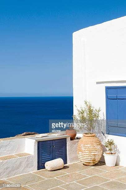 Greek island scene on the isle of Siphnos