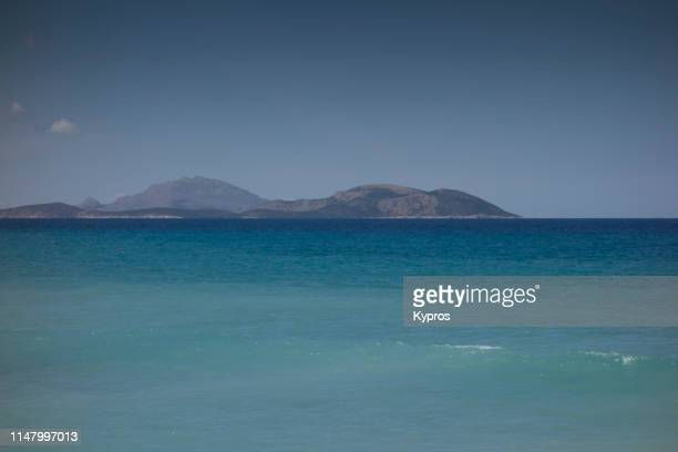 greek islands seascape - aegean sea stock pictures, royalty-free photos & images