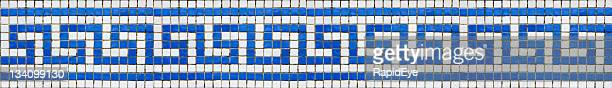 greek key pattern mosaic - classical greek style stock pictures, royalty-free photos & images