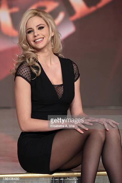 Greek model Ria Antoniu attends Ballando Con Le Stelle press conference photocall at Auditorium Rai on January 4 2012 in Rome Italy
