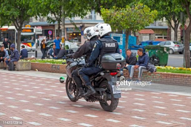 Greek motorcycle police officers