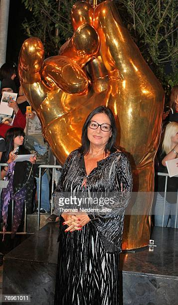 Greek musician Nana Mouskouri arrives for the recording of the TV show 'Die goldene Stimmgabel 2007' presented by Dieter Thomas Heck in the...