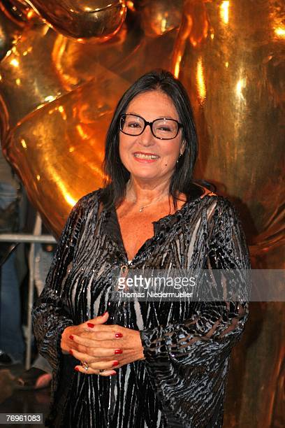 Greek musician Nana Mouskouri arrives for the recording of TV show 'Die goldene Stimmgabel 2007', presented by Dieter Thomas Heck, in the...