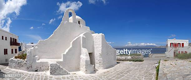 greek mykonos paraportiani white church - xxxlarge - greek orthodox easter stock pictures, royalty-free photos & images