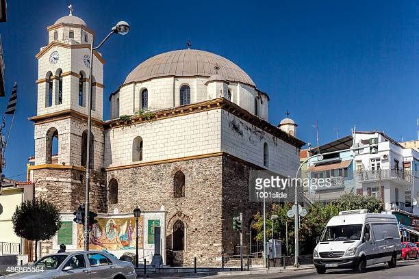 Greek old church with cross
