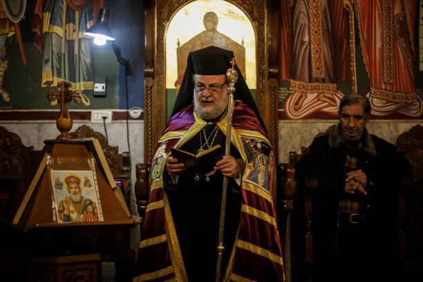 orthodox christmas mass in gaza