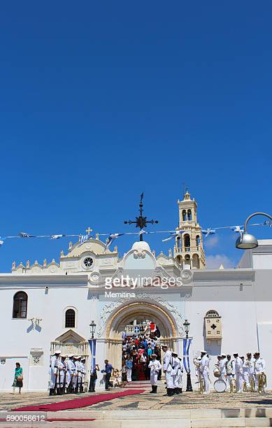 Greek Orthodox Assumption Day in Tinos