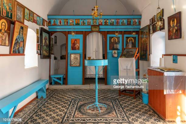 greek orthodox church interior - orthodox church stock pictures, royalty-free photos & images
