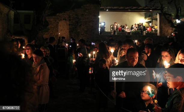 greek orthodox easter vigil - greek orthodox easter stock pictures, royalty-free photos & images