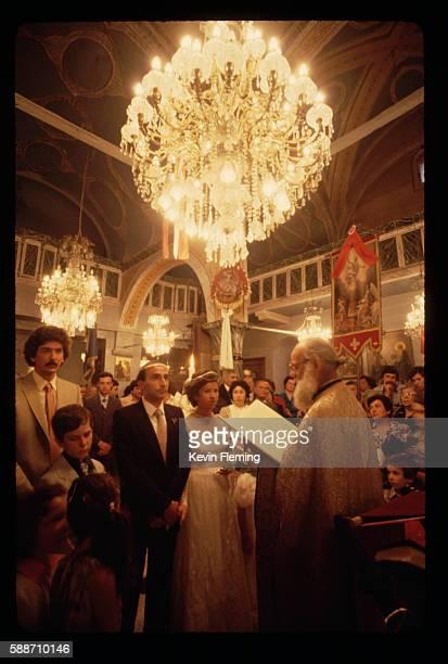 greek orthodox wedding on samos - greek orthodoxy stock pictures, royalty-free photos & images