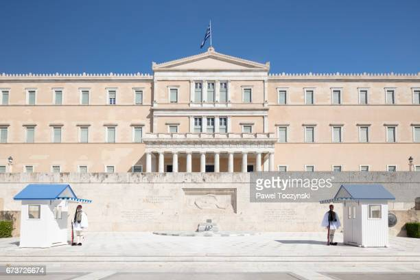 greek parliament building, athens - ギリシャ国会議事堂 ストックフォトと画像