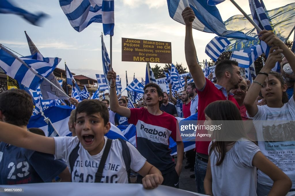 greek people stage a protest rally against the developments on the