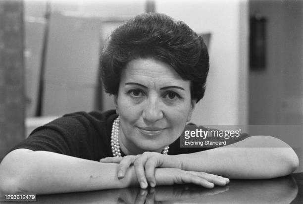 Greek pianist Vasso Devetzi , UK, 2nd February 1967.