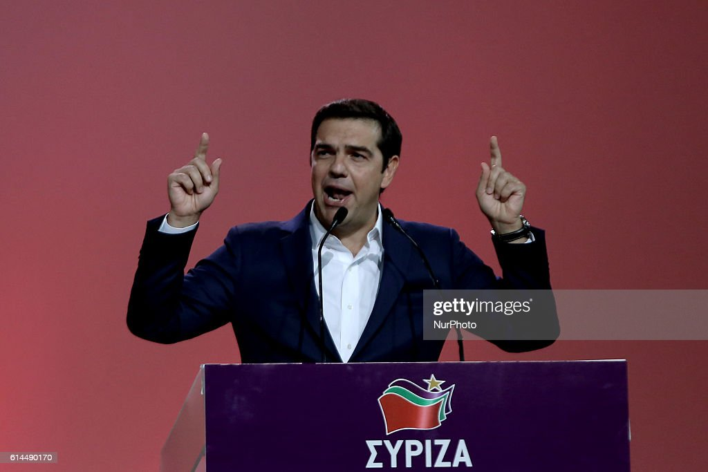 Second congress of SYRIZA in Athens : News Photo