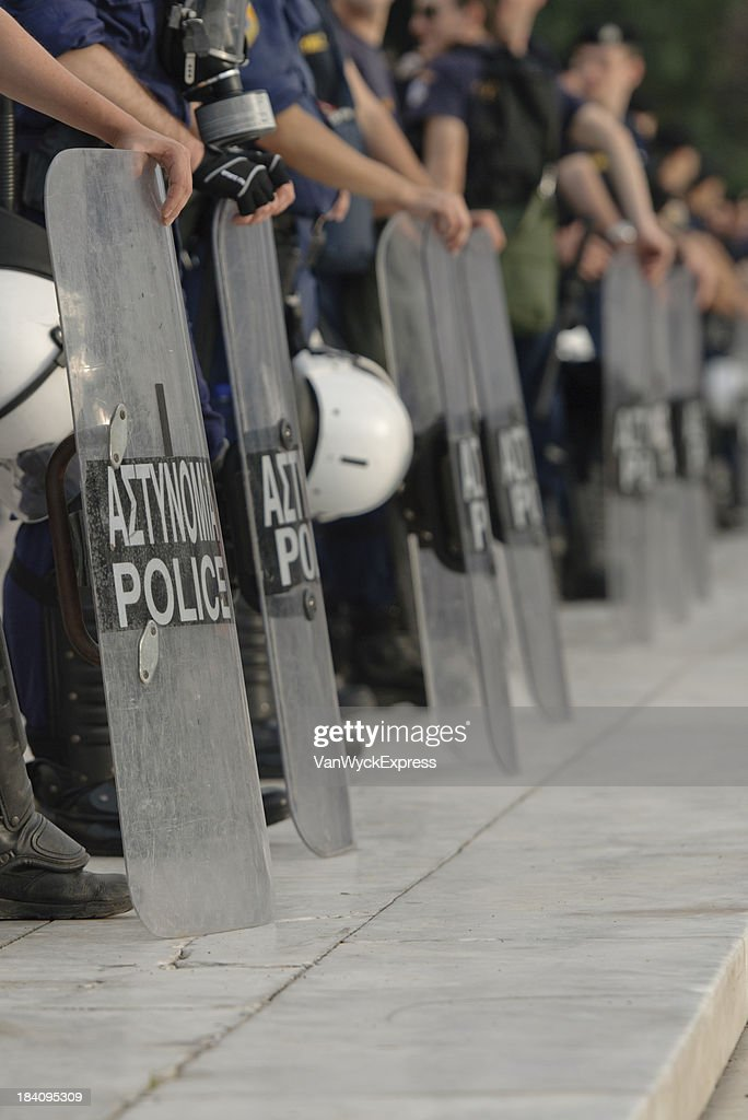 Greek Policemen : Stock Photo