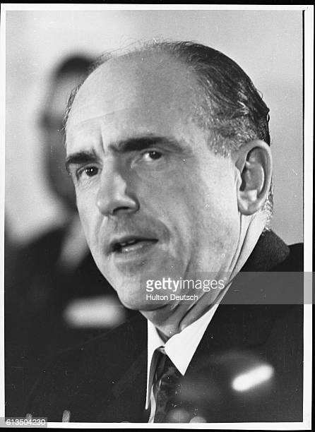 Greek politician and first Socialist Prime Minister Andreas Papandreou son of George Papandreou while on exile in 1968