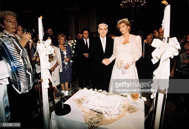 Greek Politician Andreas Papandreou Weds Dimitra Liani