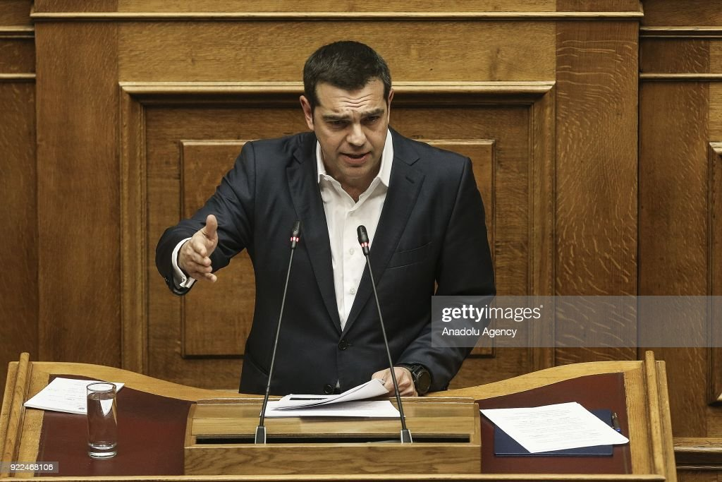 Greek Parliament debates Novartis investigation : Fotografía de noticias