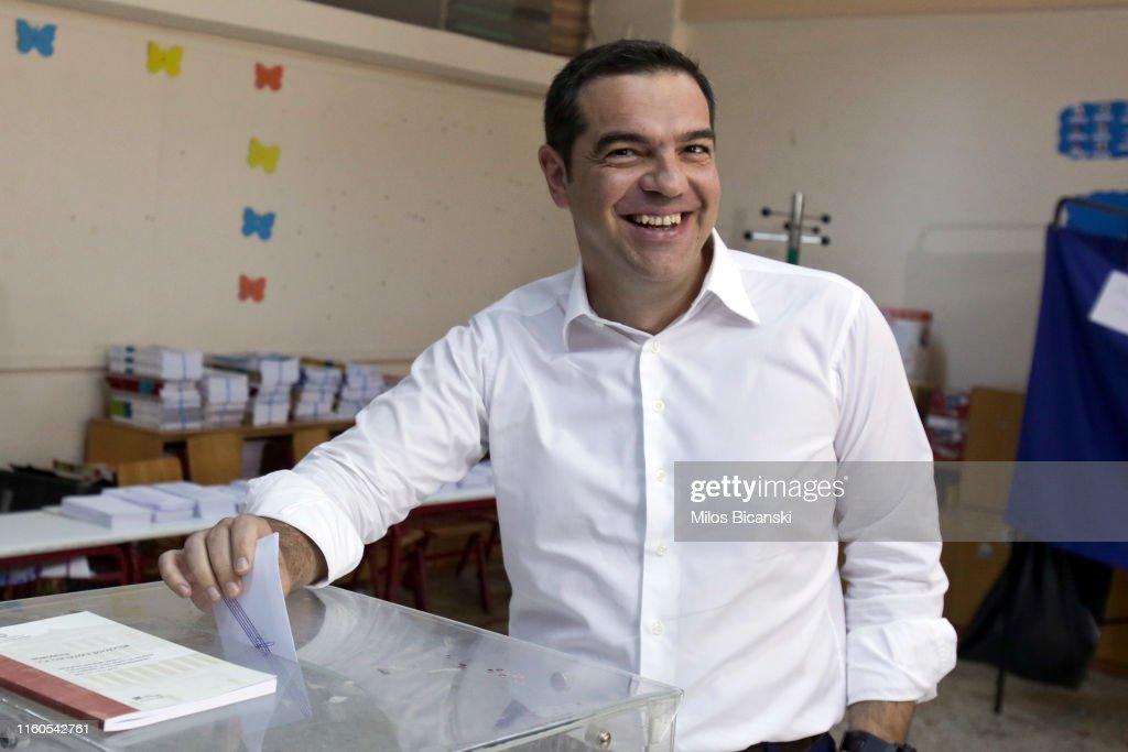 Greeks Vote In Their 2019 General Election : Foto di attualità