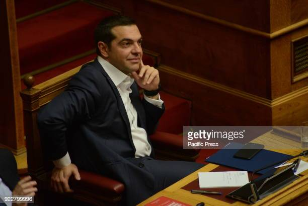 PARLIAMENT ATHENS ATTIKI GREECE Greek Prime Minister Alexis Tsipras during the session of Hellenic parliament
