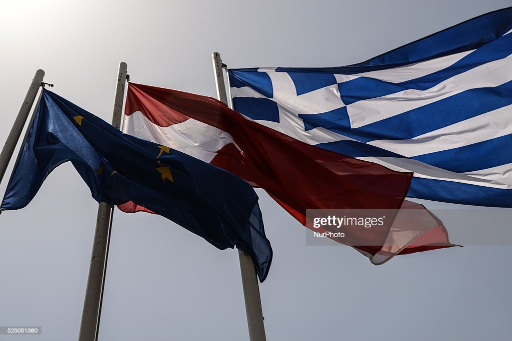 european greek and austrian flag pictures getty images