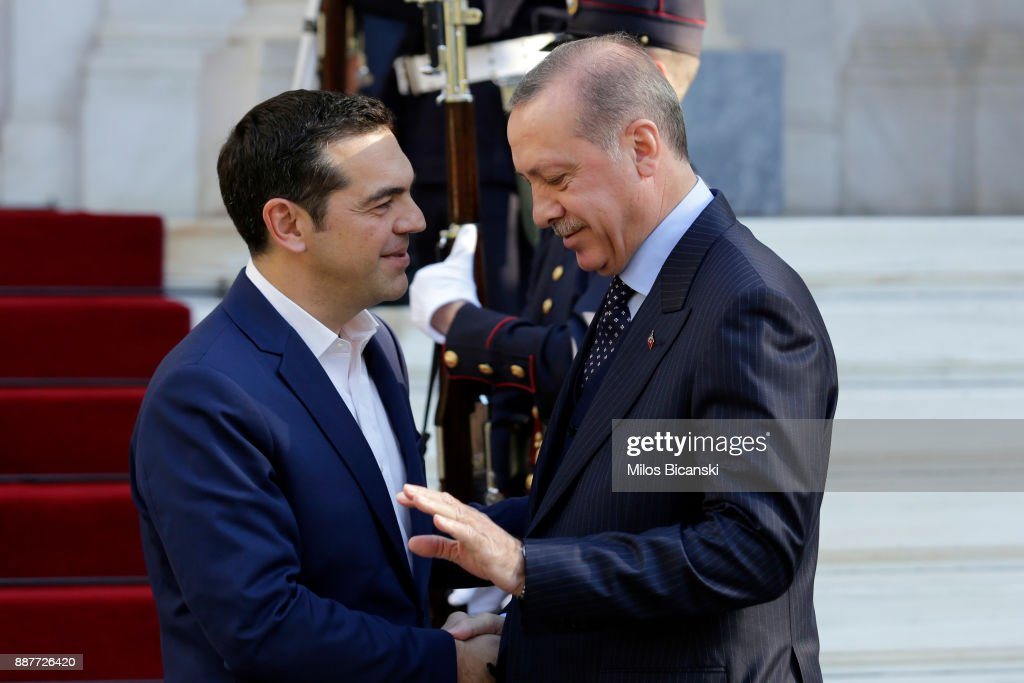 President Erdogan Of Turkey Visits Greece : News Photo