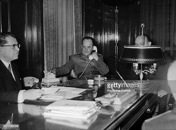 Greek Prime Minister During Colonels' Dictature In Greece Georgios Papadopoulos Gets In Office After The Putsch In April 21St 1967 On The Left...