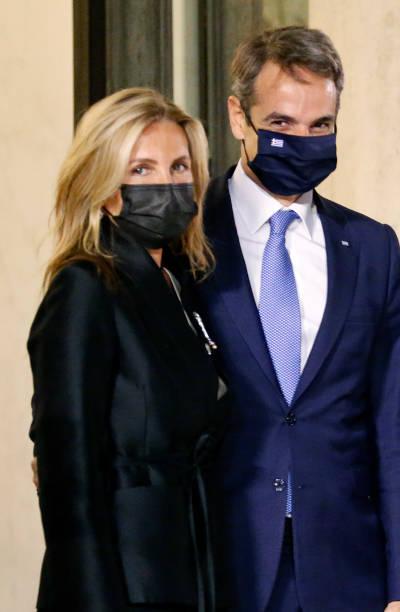 FRA: French President Emmanuel Macron Hosts Greece's Prime Minister Kyriakos Mitsotakis