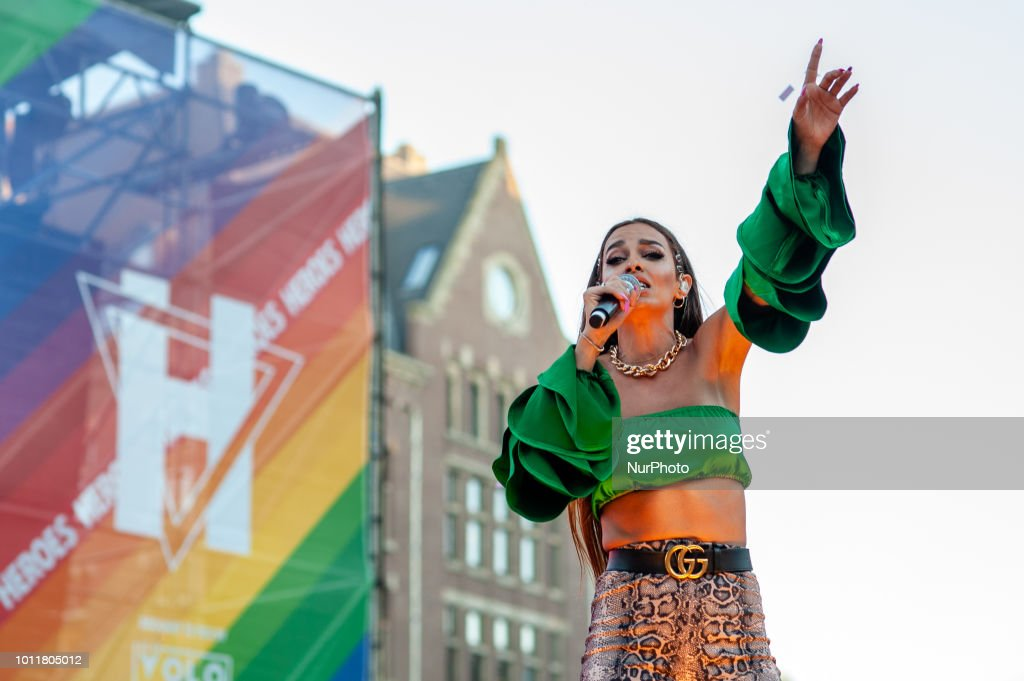 Eleni Foureira Performs At Closing Party Pride In Amsterdam : News Photo