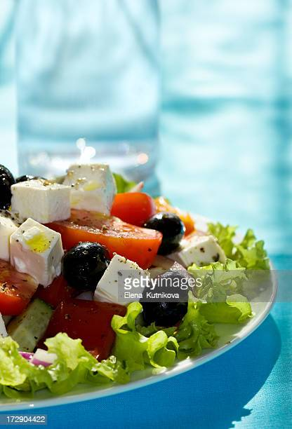 Greek Salad and glass of water