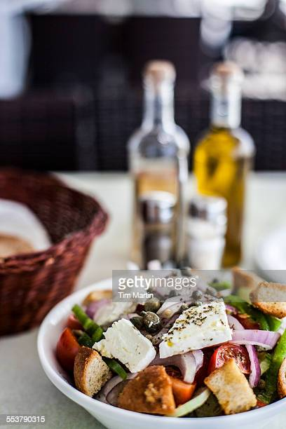 greek salad - greek food stock pictures, royalty-free photos & images