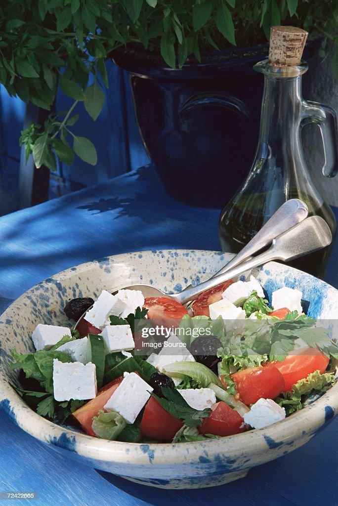 Greek salad : Stock Photo