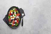 greek salad with cucumber tomato pepper