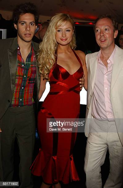 Greek shipping heir Paris Latsis fiancee Paris Hilton and Geordie Greig attend the annual Tatler Summer Party hosted hosted by Tatler editor Geordie...