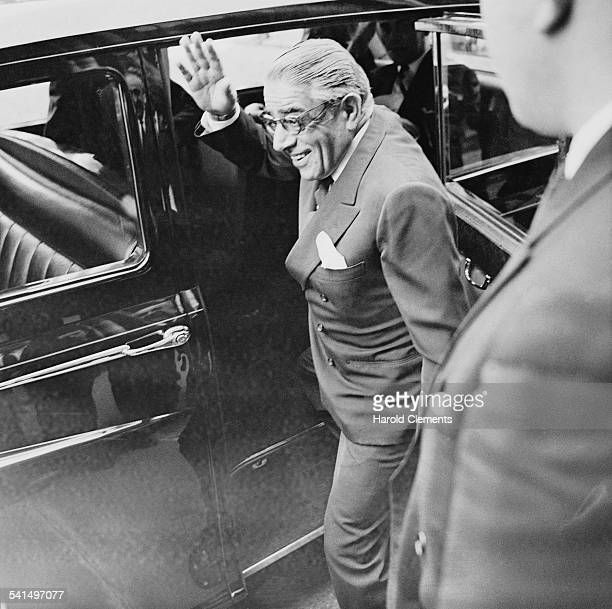 Greek shipping magnate Aristotle Onassis 18th April 1967