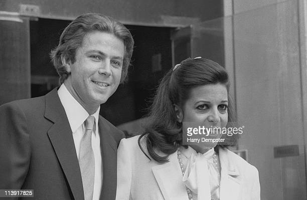 Greek shipping magnate Christina Onassis and her fourth husband Thierry Roussel on their wedding day 19th March 1984