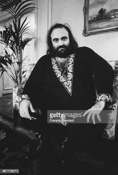 Greek singer and performer Demis Roussos UK 8th November 1977