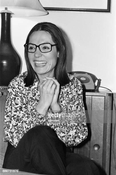 Greek singer Nana Mouskouri 9th March 1979