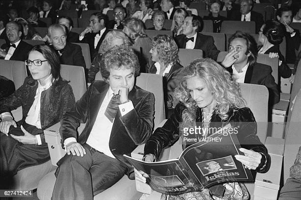 Greek singer Nana Mouskouri and Egyptian singer Dalida attend a Julio Iglesias concert with other celebrities at Paris' Palais des Congres Dalida and...