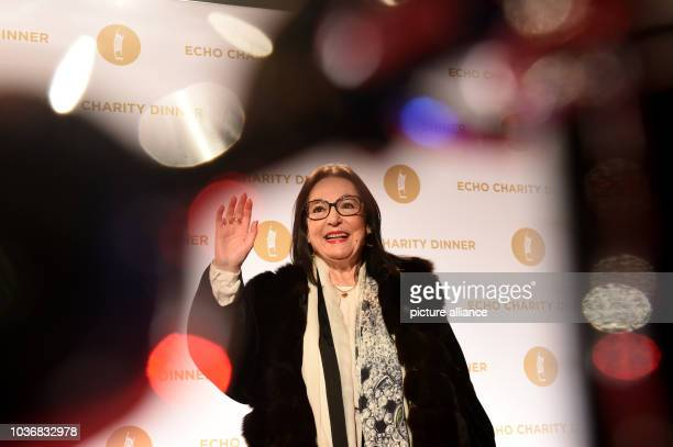 Greek singer Nana Mouskouri arrives for the Echo Charity Dinner at the restaurant Grill Royal in Berlin Germany 25 March 2015 Photo Jens Kalaene/dpa...