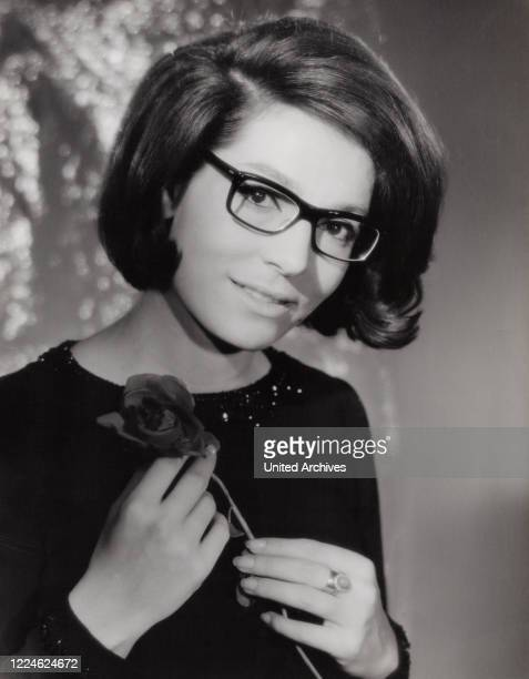 Greek singer Nana Mouskouri, Germany, early 1960s. .