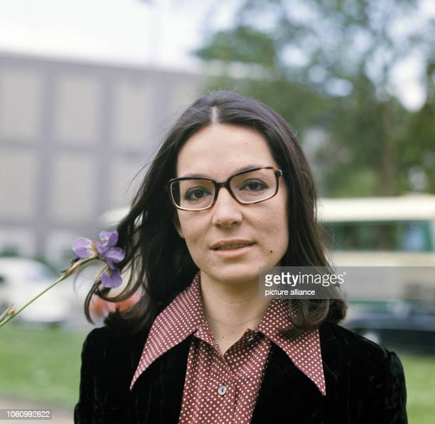 Greek singer Nana Mouskouri in May 1972