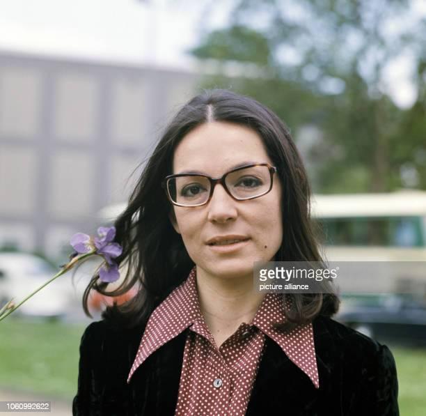 Greek singer Nana Mouskouri in May 1972