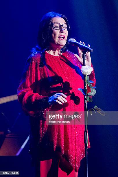 Greek singer Nana Mouskouri performs live during a concert at the Admiralspalast on October 5 2014 in Berlin Germany