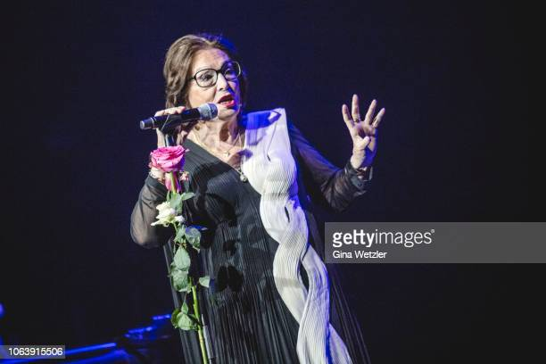 Greek singer Nana Mouskouri performs live on stage during a concert at Admiralspalast on November 20 2018 in Berlin Germany