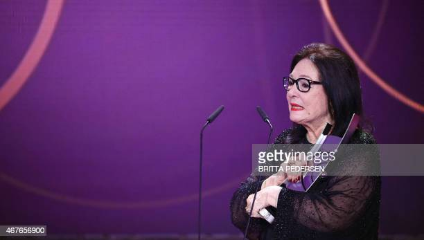 Greek singer Nana Mouskouri receives the 2015 Echo Music Awards on March 26 2015 in Berlin The German music awards are held every year by the German...