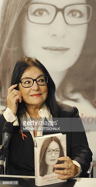 Greek singer Nana Mouskouri smiles during the presentation of her autobiography 'Memoirs' on November 12 2008 in Berlin Mouskouri born in 1934 on the...