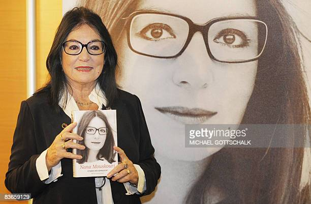 Greek singer Nana Mouskouri smiles during the presentation of her autobiography Memoirs on November 12 2008 in Berlin Mouskouri born in 1934 on the...