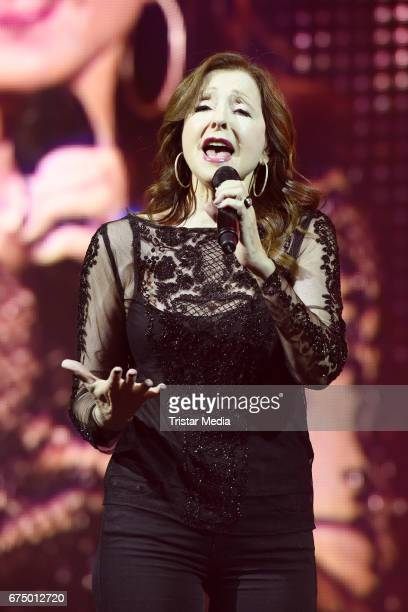 Greek singer Vicky Leandros performs during 'Die Schlagernacht des Jahres' at Lanxess Arena on April 29 2017 in Cologne Germany