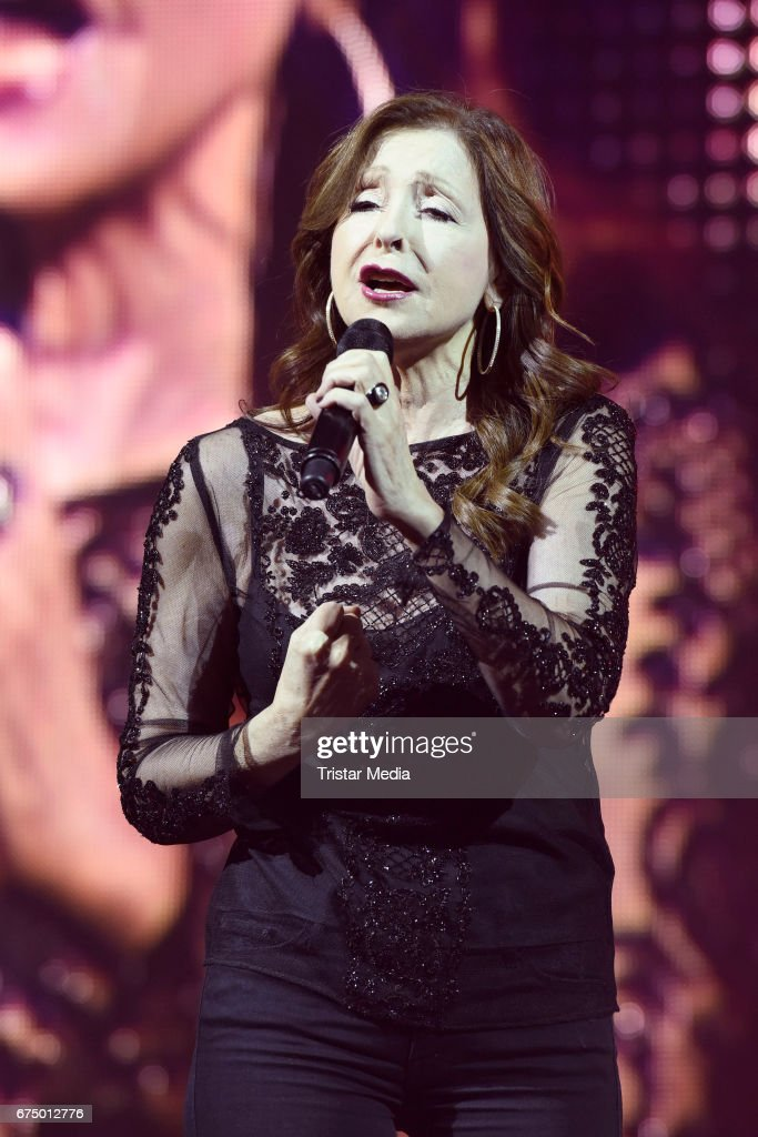 Greek singer Vicky Leandros performs during 'Die Schlagernacht des Jahres' at Lanxess Arena on April 29, 2017 in Cologne, Germany.